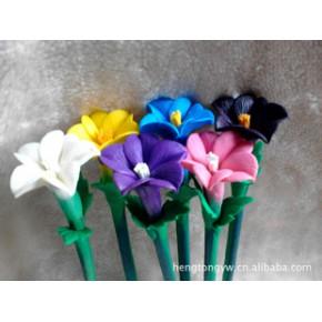 新款的仿自然界真花制作的软陶笔曼陀花