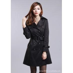 外滩衣元素 2011秋冬新款韩版长袖修身显瘦风衣女外套