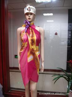 新供应新款雪纺印花沙滩巾 涤纶纱笼
