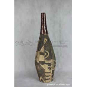 鱼戏莲 陶瓷工艺品 石湾手工艺  家居装饰摆件 年年有鱼