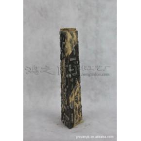 中三角瓶 石湾手工艺品 陶瓷工艺品 家居装饰摆件 艺术花瓶