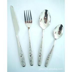 揭阳鸿之兴专业供应不锈钢松鹤西餐餐具系列环保餐具