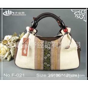 小山丽亚麻布包,手拎包,云南民族风,时尚休闲包