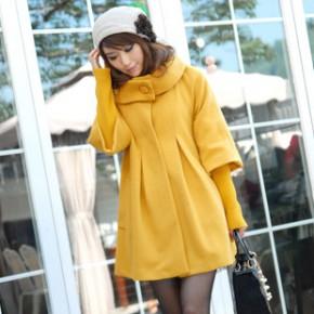 2011冬装女装韩版新款毛呢大衣外套 1575