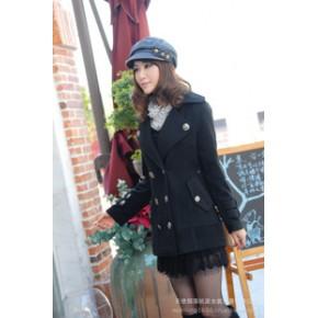 【促销爆款】杭派无法忘记一 秋冬装 韩国韩版双排扣呢大衣