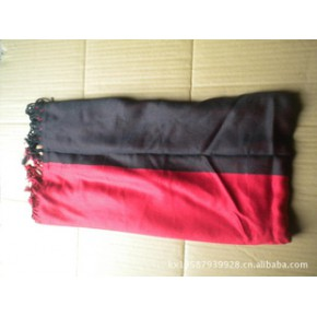 批发外贸实拍流苏人造棉双色不对称女式欧美风围巾支持混批支付宝