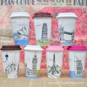 【】星巴克双层陶瓷杯 创意杯子 陶瓷杯 马克杯 国家风景系列