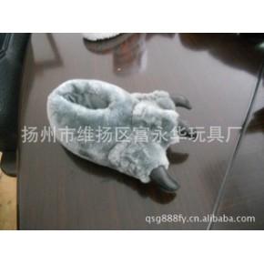 毛绒动物鞋 动物 动物脚趾