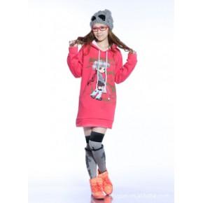 2011秋冬新款韩版热卖加厚休闲加长款可爱小美女时尚多色卫衣