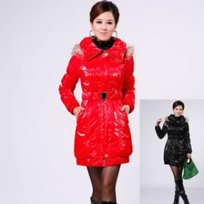 2011冬装新款韩版连帽修身女式棉衣外套 1657