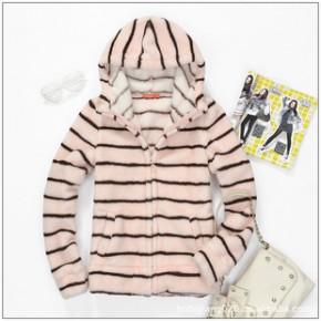 2011新款美特斯邦威秋装女装抓绒卫衣珊瑚绒214860 F002