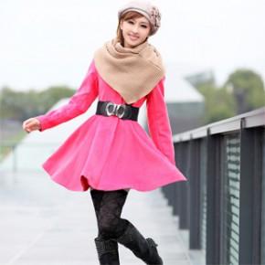 2011冬装新款韩版女装时尚女式毛呢大衣外套 1662