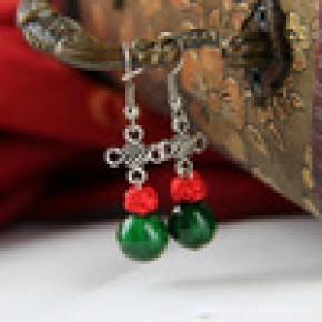【首饰批发】 专业制作古典民族风彩石耳环 200元饰品混批EH-A057
