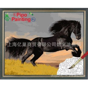 PIPO数字油画骏马40*50