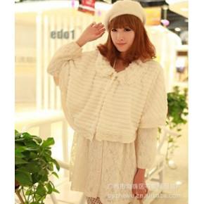 2011日韩女装秋冬装新款批发代理外套蝙蝠开衫 2648 米黄
