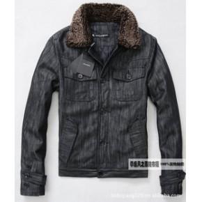 2011新款冬装原单D&G 男装 短款 薄棉服 棉衣