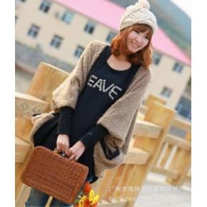 2011秋冬装新款外套日韩女装vivi  蝙蝠大衫 500 咖色