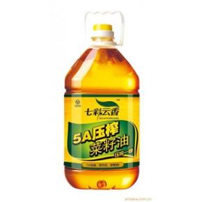 七彩云香菜籽油,高原菜籽榨的油