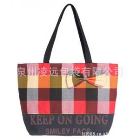 生产批发包包,彩色条纹手提包,单肩包手袋加工