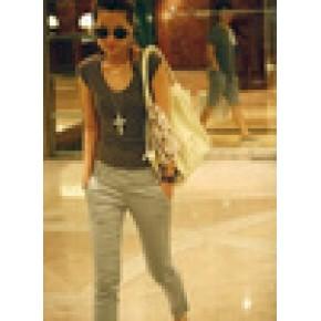 2011 韩版 超人气翘臀修身的高弹力九分裤子/休闲裤服装加工