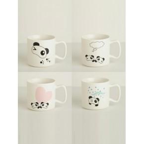 oasso 熊猫四部曲 创意陶瓷马克杯 创意礼品 成都怡佳文化