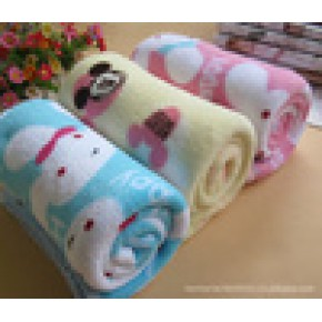 加大单层珊瑚绒超软宝宝抱毯/婴儿抱被/珊瑚绒毯/浴巾