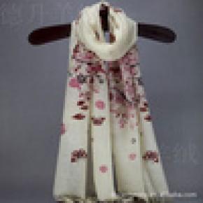 2012新款内蒙古定制纯羊毛印花围巾披肩 精品围巾 原单尾货