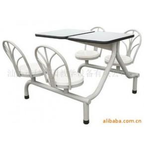 自动回转椅餐桌 钢+木 简约