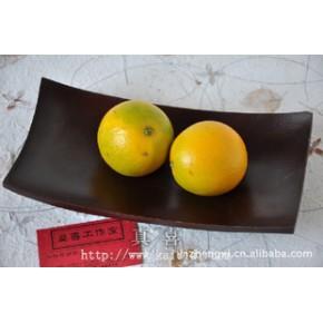 5*10芒果木托盘-长黑色 实木茶盘芒果木水果盘泰国工艺品