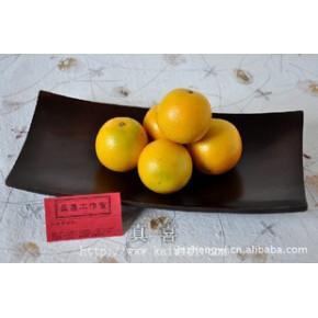 7*14芒果木托盘-长黑色 实木茶盘芒果木水果盘泰国工艺品