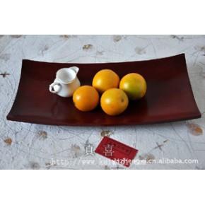 9*18芒果木托盘-长红色 实木茶盘芒果木水果盘泰国工艺品
