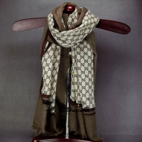 品牌围巾定制 链条印花围巾 披肩 纯羊毛印花围巾 批发礼品订单