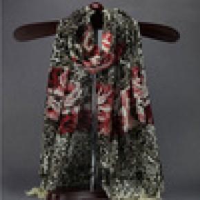 纯羊毛印花围巾披肩 批发 格子纯色提花  精品围巾设计