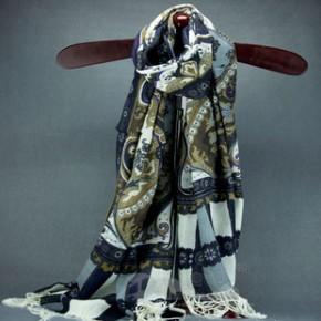 内蒙古羊毛印花围巾 羊毛格子围巾披肩 批发订单精品围巾设计
