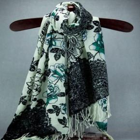 定制 精纺羊毛印花围巾披肩 品牌精品围巾设计 原单尾货