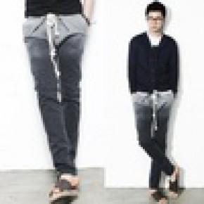 (暂无货)男式牛仔长裤 休闲裤 吊档裤 飞鼠裤 男士牛仔哈伦裤