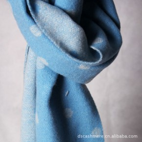 定制批发 绵羊绒轻起毛提花围巾 承接礼品订单 外贸原单尾货