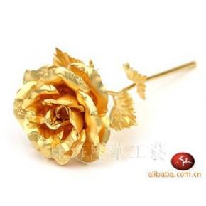 金玫瑰/纯金箔玫瑰花 情侣礼物 佳情人节礼品