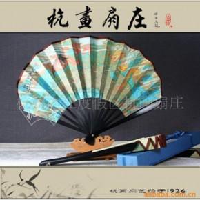 【杭画扇庄】天堂新西湖日式工艺扇/礼品扇女扇子