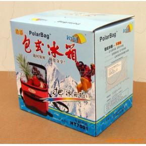 彩盒装包式冰箱 休闲冰包 户外冷藏包 野餐包