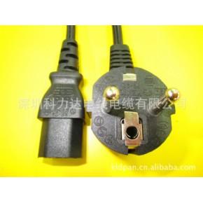 电源线批发 欧规三插两插电源线,品字尾梅花尾八字尾电源线。
