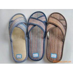 提供夏日凉爽系列彩色竹席拖鞋加工/室内外拖鞋
