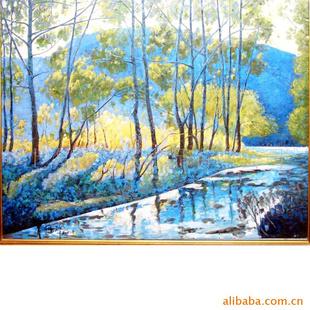【装饰性油画 风景画 纯手绘