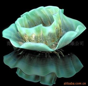 琉璃荷叶 琉璃果盘 琉璃艺术品