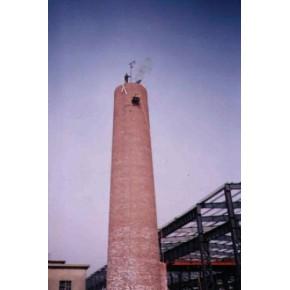 烟囱美化公司-烟囱粉刷写字-烟囱刷色环装饰