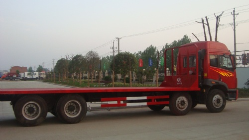 解放J5前四后八挖机拖车、挖机运输车
