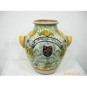 陶瓷工艺品 巴诺克 彩瓷
