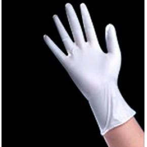 一次性丁腈手套(9/12英寸,无粉,蓝/白色)