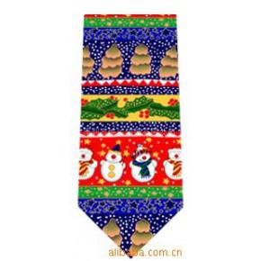 圣诞领带 领带 真丝 印花