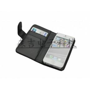 苹果iPhone5苹果4代5代左右翻可插卡钱包手机保护套